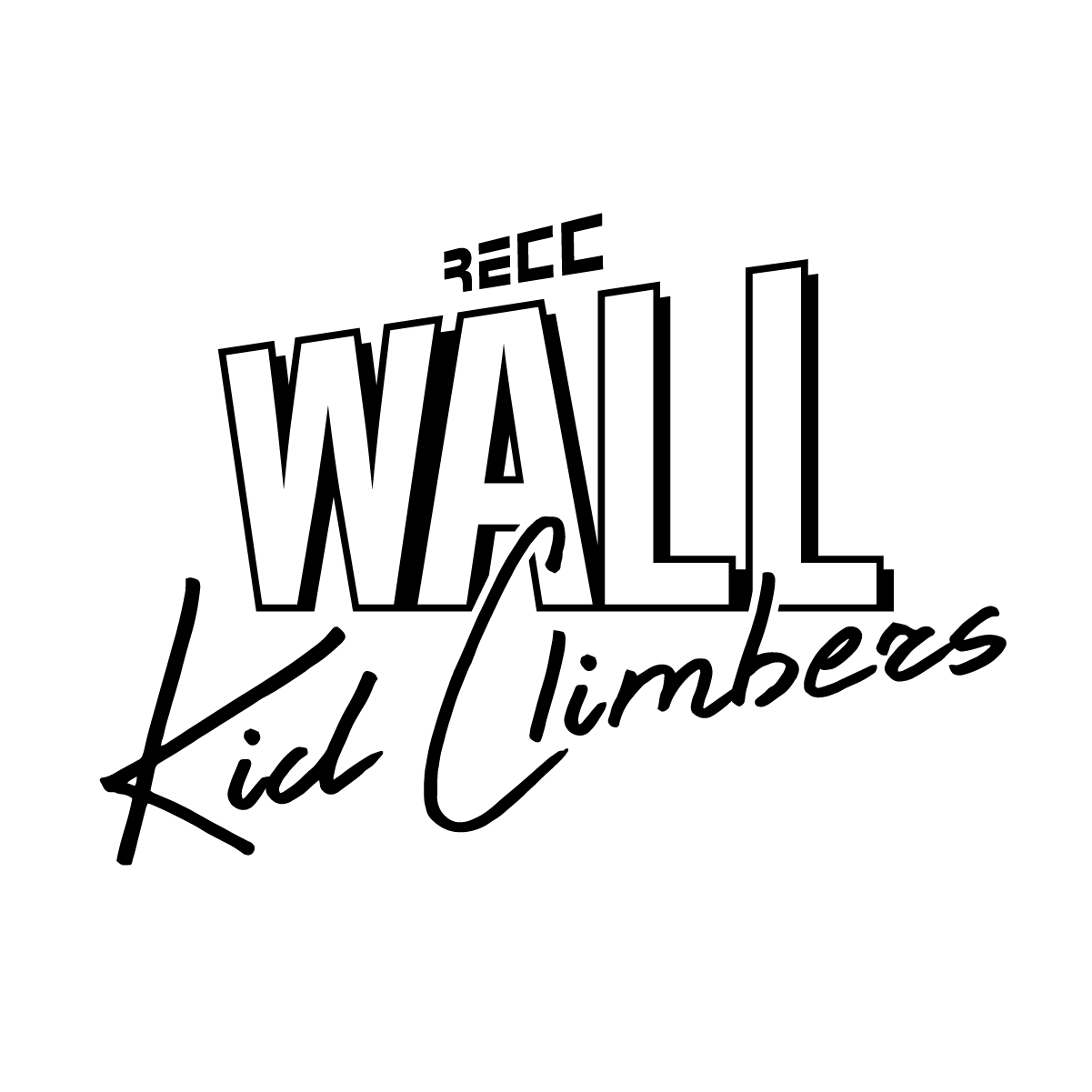 Logo BLACK WallKidClimbers