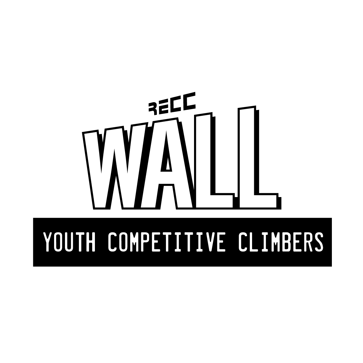 Logo BLACK WallYouthCompClimbers